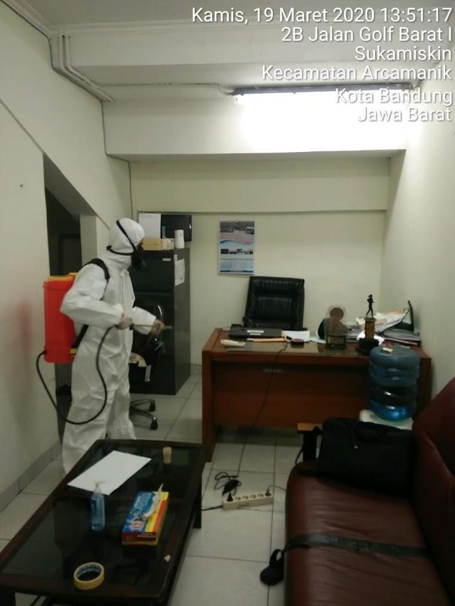 Antisipasi Virus Covid-19, Seluruh Gedung SPORt Jabar  Disemprot Disinfektan