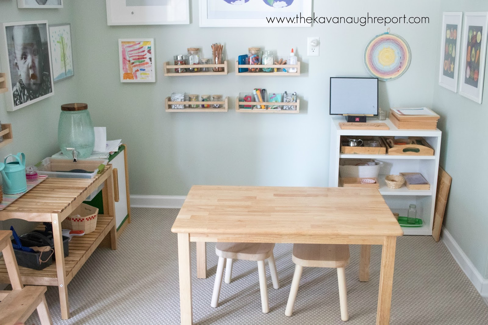 Our Montessori home - art area