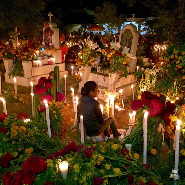 Panteón Atzompa día de muertos Oaxaca