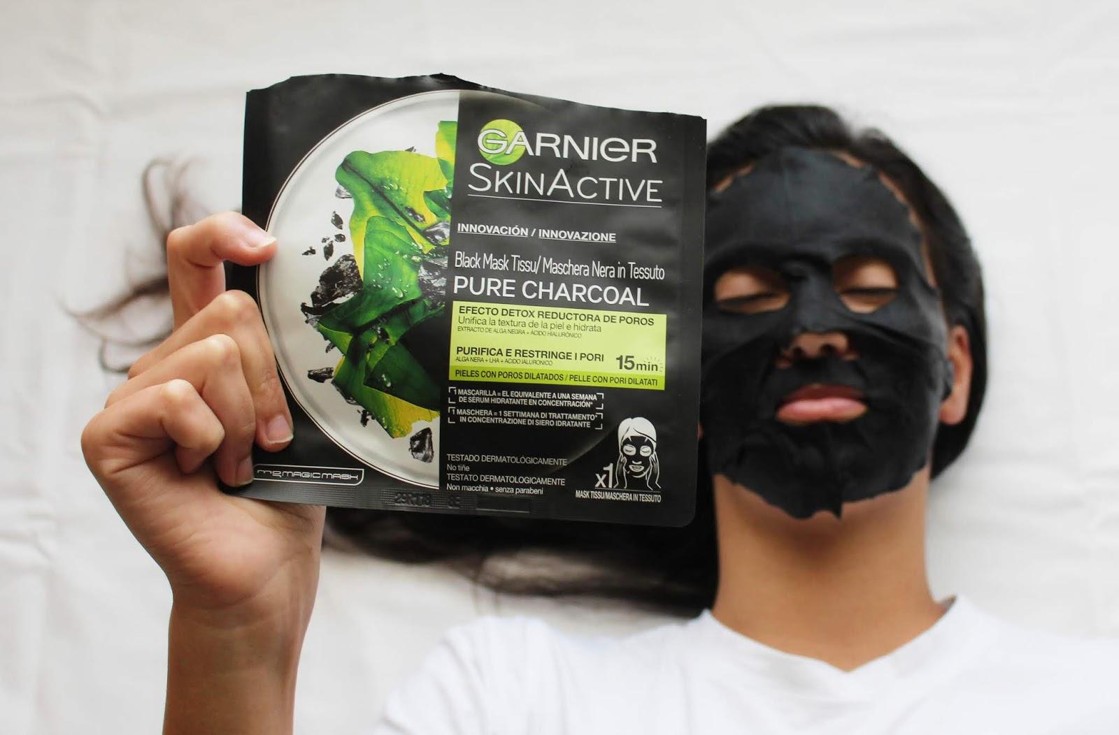 Máscara de tecido purificante hidratante da garnier