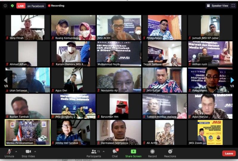 Menko Perekonomian Pembicara Awal Road To Munas I JMSI: Optimis, Ekonomi Indonesia Bangkit