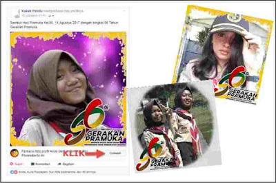 Bingkai Foto Profil FB Hari Pramuka ke-56