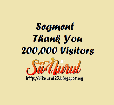 Segment Thank You, 200,000 Visitors by Sii Nurul