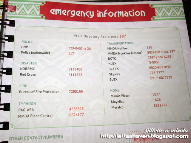 BDJ Planner 2014 Emergency Numbers