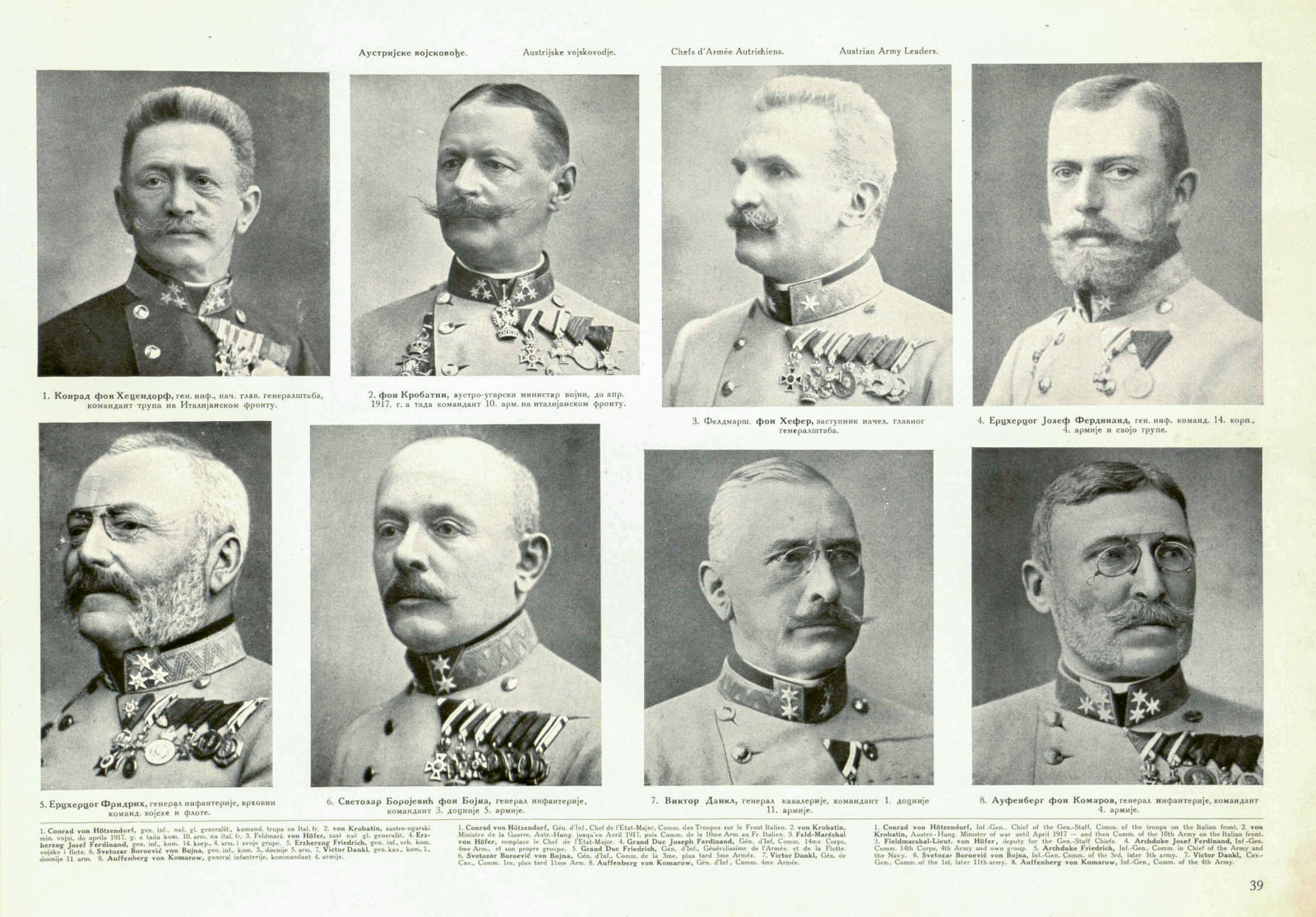 8 Austro-Hungarian Army Leaders - WW1 Information ...