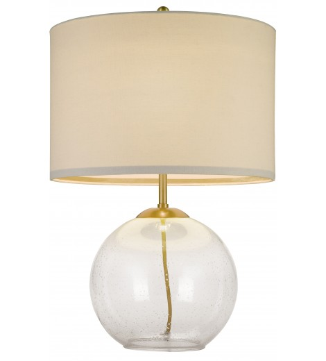 Clear Brass Bedside Table Lamp