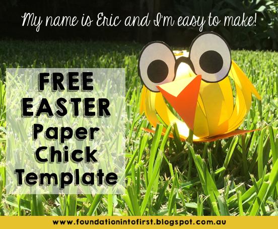 Free, download, easter, paper, chick, chicken, template, teaching, materials, material, teachers pay teachers