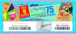 Kerala Lottery Results 06-07-2020 Win Win W-572 Lottery Result-keralalotteries.net