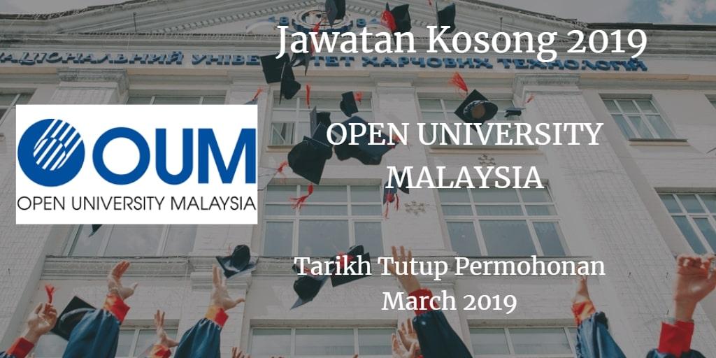 Jawatan Kosong OPEN UNIVERSITY MALAYSIA March 2019