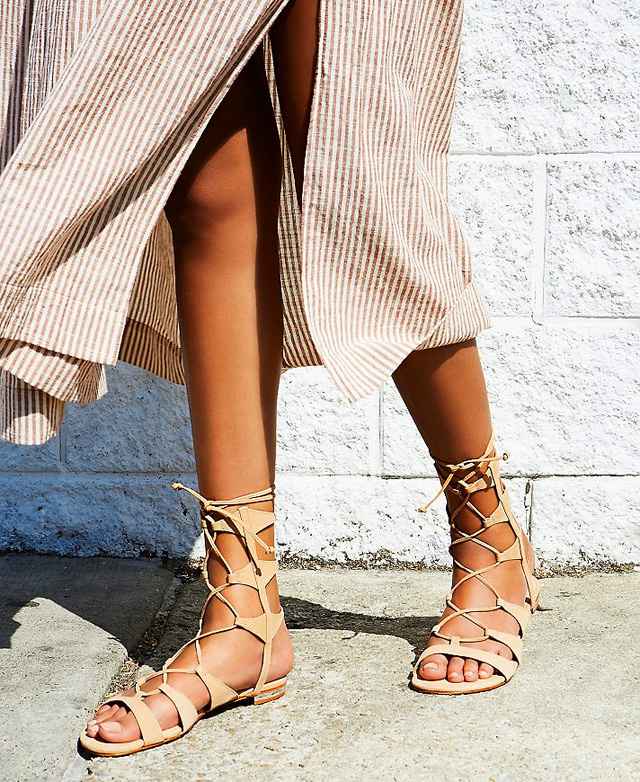 Summer trend, lace up sandals, gladiators, free people