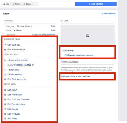 create a facebook business account