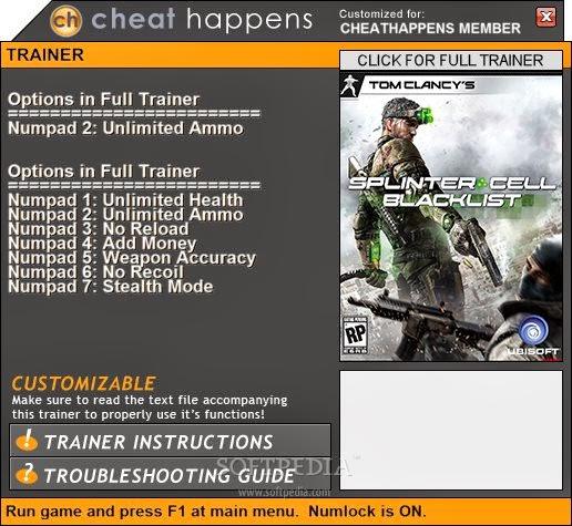 скачать трейнер на игру Splinter Cell Blacklist - фото 10