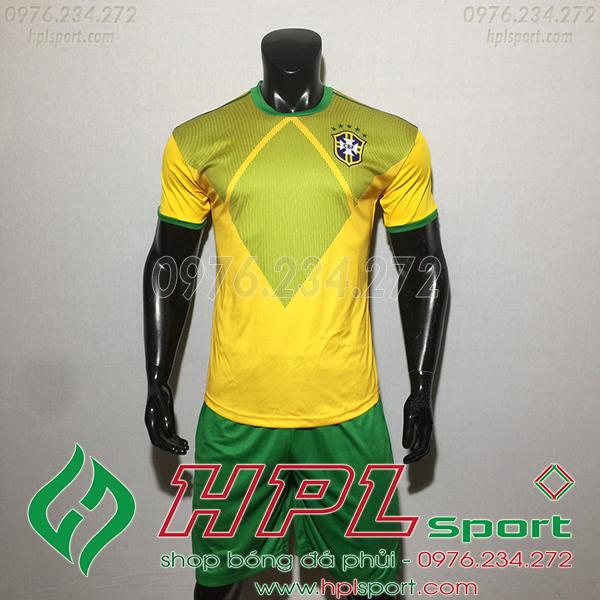 Áo training đội tuyển Brazil màu vàng 2020