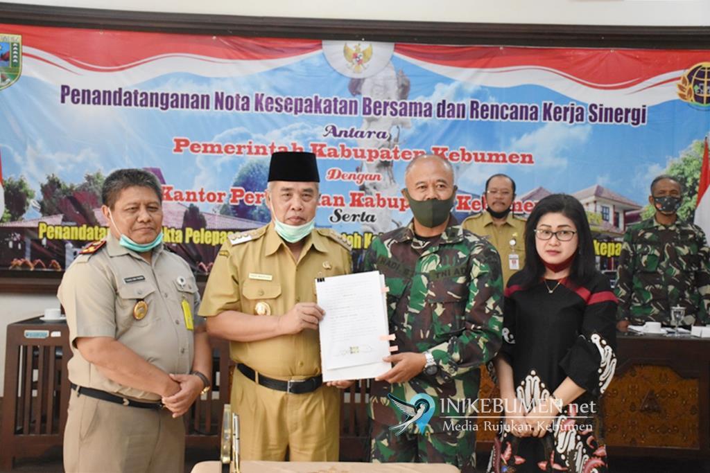 Lahan Timur Terminal Bus Kebumen Resmi Dihibahkan ke TNI AD
