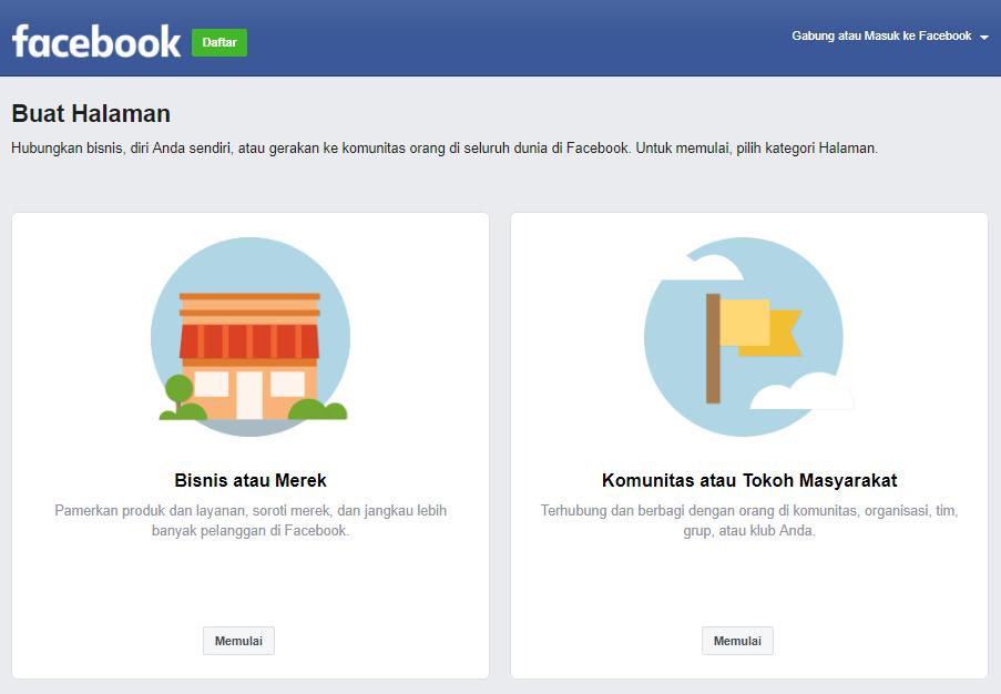 Cara Membuat Facebook Fans Page Bisnis