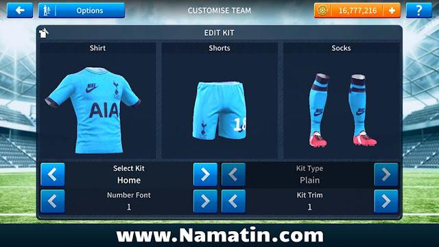 Baju Dream League Soccer Tottenham 2020