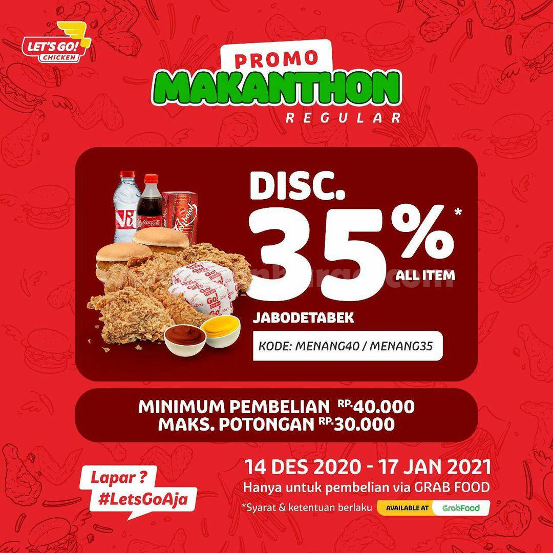 Let's Go Chicken Promo MAKANTHON Diskon 35% via GRABFOOD