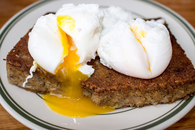 Hungry Pigeon - Scrapple with Poached Eggs