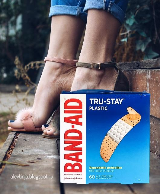 Band Aid, Tru-Stay, пластиковые пластыри, 60 шт.
