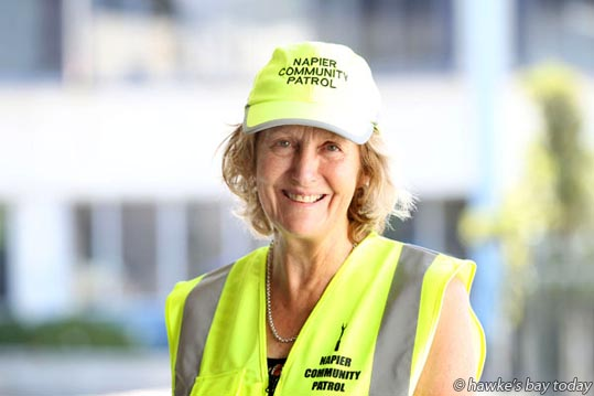 Sandy Ibbotson, co-ordinator, Napier Community Patrol, Napier, New Year's Honours. photograph