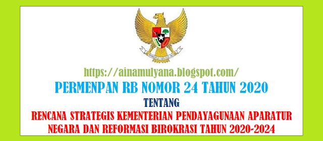 Peraturan Menpan atau Permenpan RB Nomor 24 Tahun 2020