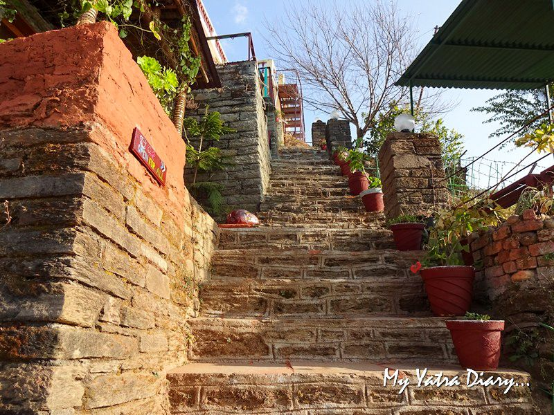 Way to our traditional Kumaoni room at Alhito Kasar Devi Uttarakhand