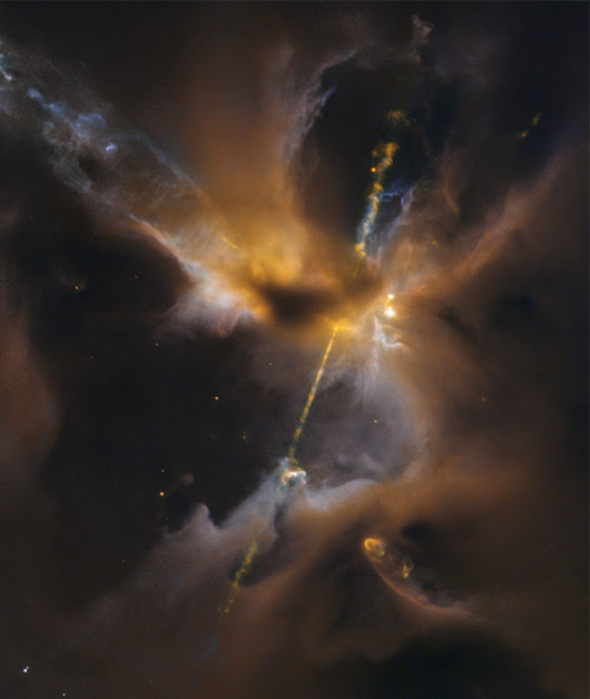 Hubble Space Telescope Captures Image of A Lightsaber In Space