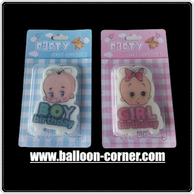 Lilin Ultah HAPPY BIRTHDAY Baby Boy & Baby Girl