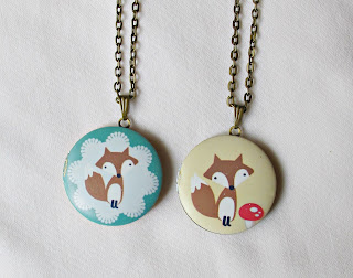 image fox locket necklaces toadstool two cheeky monkeys
