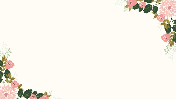 Six cartoon flower pattern PPT backgrounds
