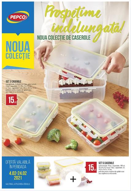 PEPCO Brosura + Promotii si oferte 4-24.02 2021→ Noua colecție de caserole! !