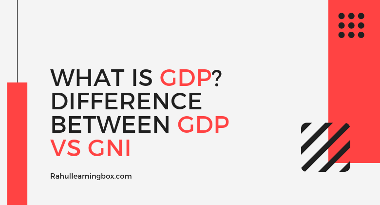 Meaning of GDP