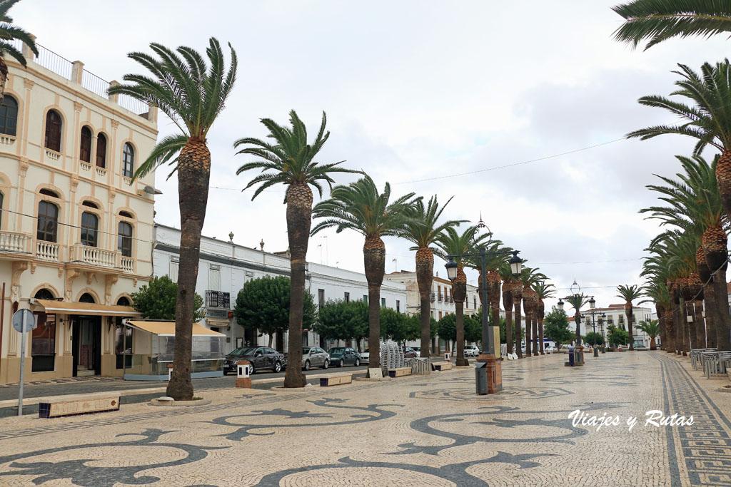 Paseo Grande, Olivenza