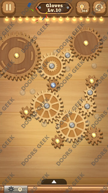 Fix it: Gear Puzzle [Gloves] Level 10 Solution, Cheats, Walkthrough for Android, iPhone, iPad and iPod