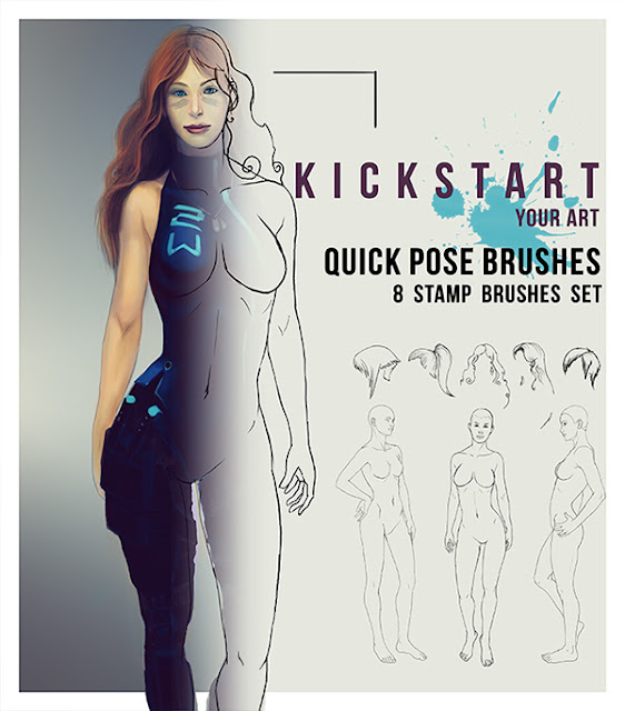 quick girl pose free photoshop brush by smilinweapon