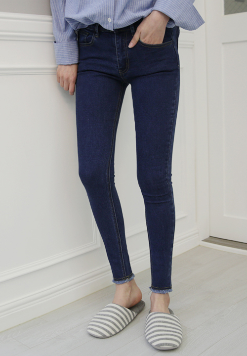 Semi-Elasticized High-Rise Jeans