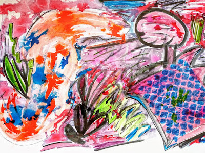 Art interiors, buy upheaval ll, Ink on paperboard abstract art by miabo enyadike
