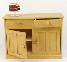 miniature sideboard for dollhouse