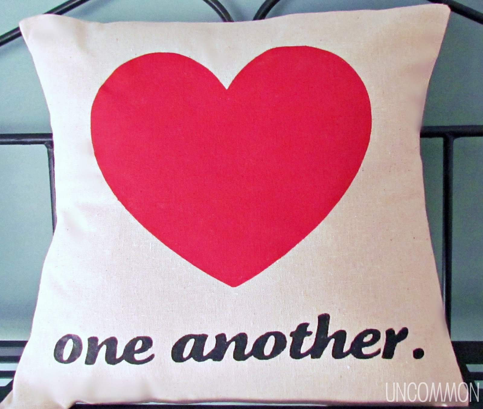 Love One Another: Love One Another { A Valentine Pillow }