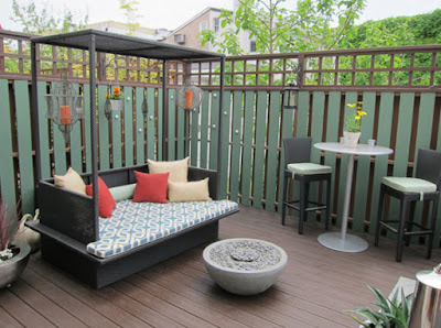 Small patio idea and deck for small backyard design