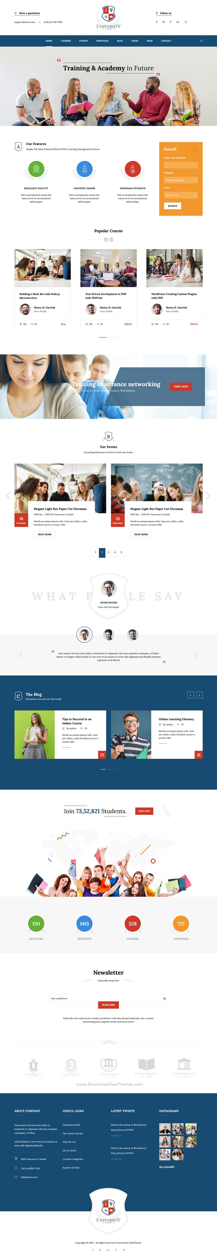 Education Course Academy Bootstrap Template