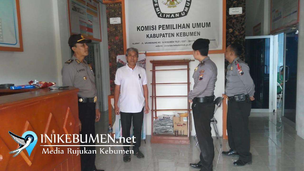 Jelang Pilgub Jateng, Polres Kebumen Intensifkan Pengamanan Kantor KPU