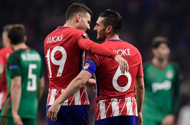 موعد مباراة لوكوموتيف موسكو وأتليتكو مدريد اليوم في الدوري الأوروبي والقنوات الناقلة والمعلقين