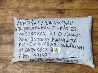Benih pesanan AKHDIYAT N Sukabumi, Jabar.   (Sesudah Packing)