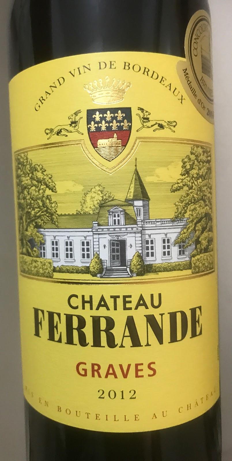 Pete 39 s wine tidbits for Chateau ferrande