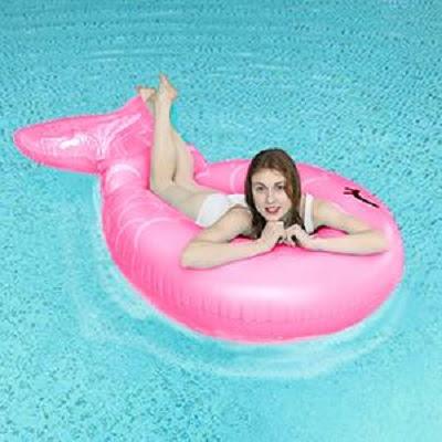 Inflatable Mermaid Pool Float Floatie Giant Pool  photos