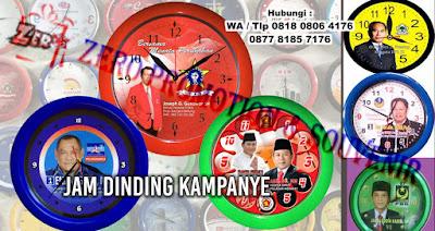 pembuatan jam dinding foto, Jual jam dinding partai promosi ukuran besar  dan logo partai besar untuk Jam Dinding Partai Politik, jam Promosi Pilkada dengan harga termurah
