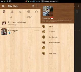 BBM Mod Wood V3.3.1.24 Apk [BBM Mod Tema kayu]