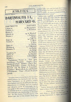 Page 128 from vol. 25 of the Dartmouth student newspaper that describes Dartmouth's victory over Harvard