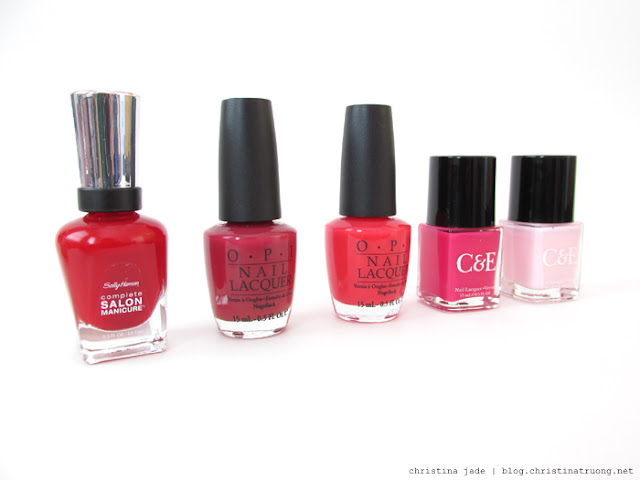 Valentine Beauty Makeup Cosmetics Nail Polish Sally Hansen OPI Crabtree & Evelyn